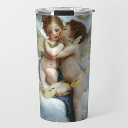 """Angels in love in heaven with butterflies"" Travel Mug"