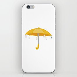 Weathering with you yellow umbrella iPhone Skin
