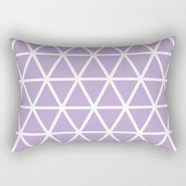 Lavender Triangle Pattern 3 Rectangular Pillow