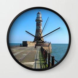 Roker Lighthousem, Sunderland uk Wall Clock