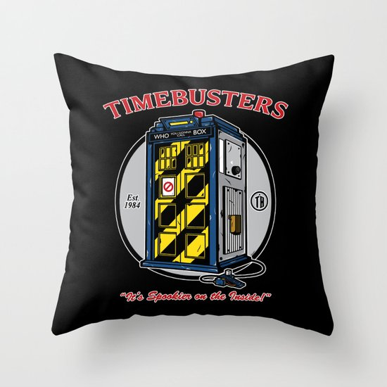Timebusters Throw Pillow
