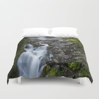 waterfall Duvet Covers featuring Waterfall. by Michelle McConnell