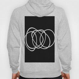 Mid Century Black And White Minimalist Design Hoody