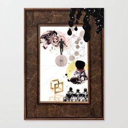 time is a concept Canvas Print