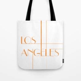Los Angeles Deco Print Tote Bag