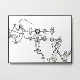 Tzompantli Metal Print