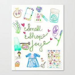 Small Shop Joy Canvas Print