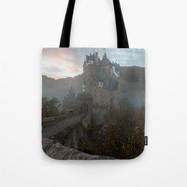 Morning light at Castle Eltz Germany Tote Bag