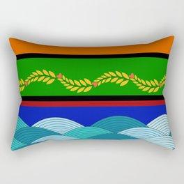 line and wave Rectangular Pillow