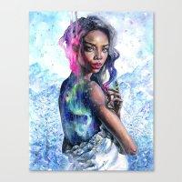 northern lights Canvas Prints featuring Northern Lights by Tanya Shatseva
