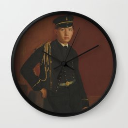 Edgar Degas - Achille De Gas in the Uniform of a cadet Wall Clock
