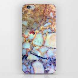 marble effect 007 (blue) iPhone Skin