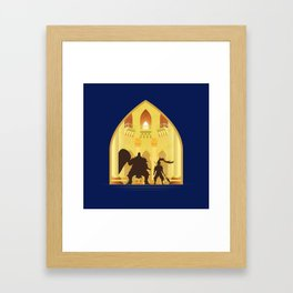 Ornstein and Smough (Dark Souls) Framed Art Print