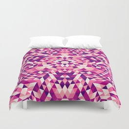 Triangle mandala 1 Duvet Cover