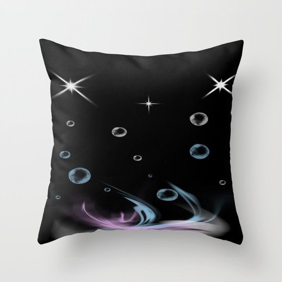 Bubbles in Cambria Throw Pillow