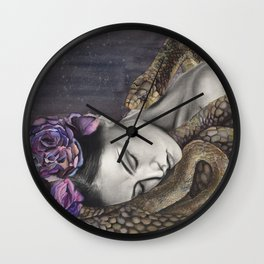 Watercolor Snake Art Wall Clock