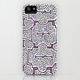 Song to Support Good Health - Traditional Shipibo Art - Indigenous Ayahuasca Patterns iPhone Case