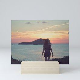 Waiting for the sunset Mini Art Print
