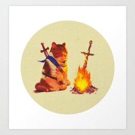 Bonfire boi Art Print
