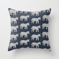 unicorns Throw Pillows featuring Unicorns  by Katelyn Patton
