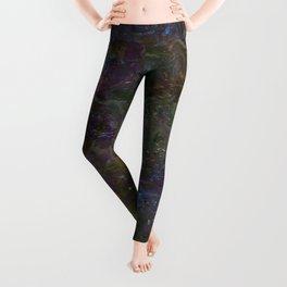 Purple Green Marble Leggings