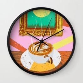 MOON COFFEE Wall Clock