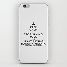 Keep Calm Forget YOLO - BLACK iPhone & iPod Skin