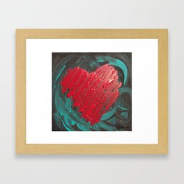 Heart of the Storm Framed Art Print