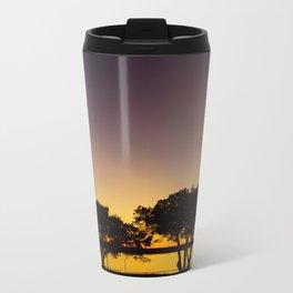 Waco, TX-Tree Shadows Metal Travel Mug