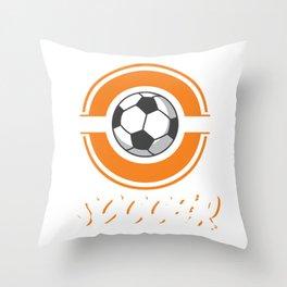 Funny Soccer Kids Gift Throw Pillow