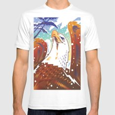Bald Eagle 2 MEDIUM Mens Fitted Tee White