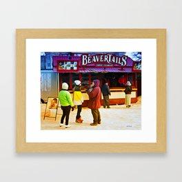 Beaver tails Framed Art Print