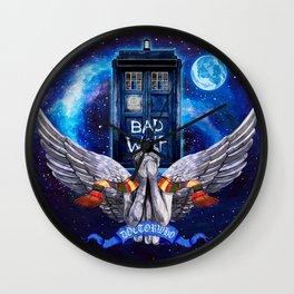 The Angel with Tardis Wall Clock