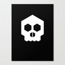 hex geometric halloween skull Canvas Print