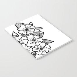 Inked flowers Notebook