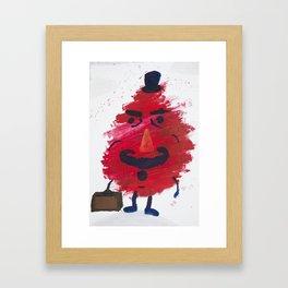 Mr. Gürbstein on his way to work Framed Art Print