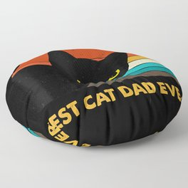 Best Cat Dad Ever Vintage Mens T-Shirt Black Cat Daddy Tee Floor Pillow