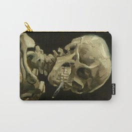 Vincent van Gogh - Skull of a Skeleton with Burning Cigarette Carry-All Pouch