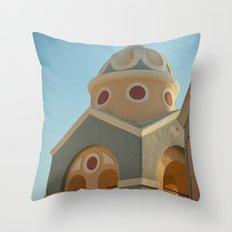 Greek island chapel Throw Pillow