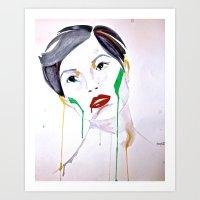 Watercolor Tears  Art Print
