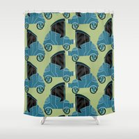 cars Shower Curtains featuring Cars by Cliodhna Ztoical