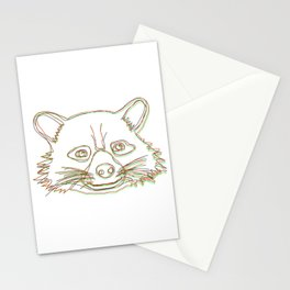 ʀᴏᴄᴋᴇᴛ ʀᴀᴄᴄᴏᴏɴ 3D Style Stationery Cards