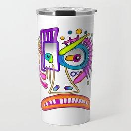 TRIBAL FROWNIE EMOJI ART Meemogie Travel Mug