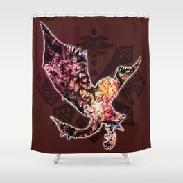 Rathalos Shower Curtain