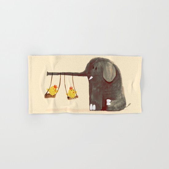 Elephant Swing Hand & Bath Towel