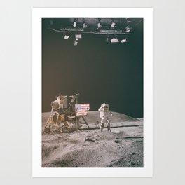 Moon Landing - Stanley Kubrick outtakes Art Print
