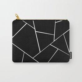 Black White Geometric Glam #2 #geo #decor #art #society6 Carry-All Pouch