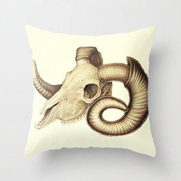 The goat skull Throw Pillow