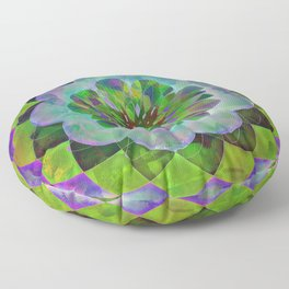 Purple & Green Spiro Floor Pillow
