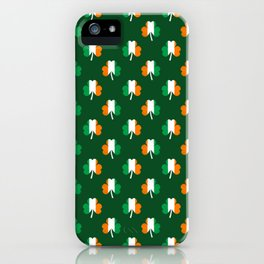Irish Flag Green White Orange on Green St. Patrick's Day Ireland iPhone Case